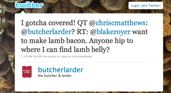 Butcher-and-larder-tweet