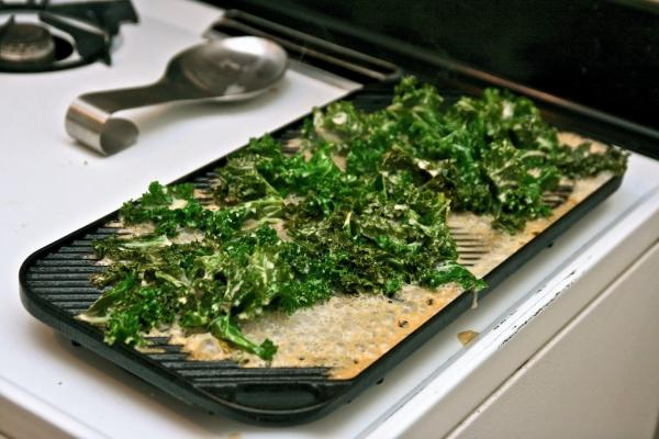 Coconut-marinated Kale